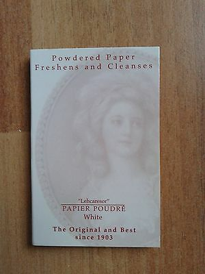 Lehcaresor Papier Poudre Facial Powdered Blotting Papers White Brand New
