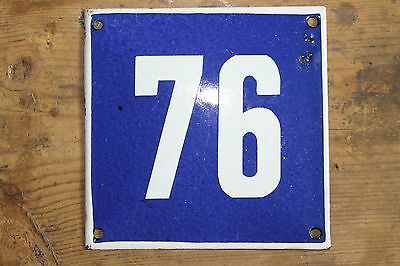 Vintage Antique Enamelled Plate Sign 76
