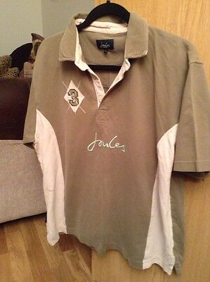 Mens Green & Beige Joules Polo Shirt Size XL