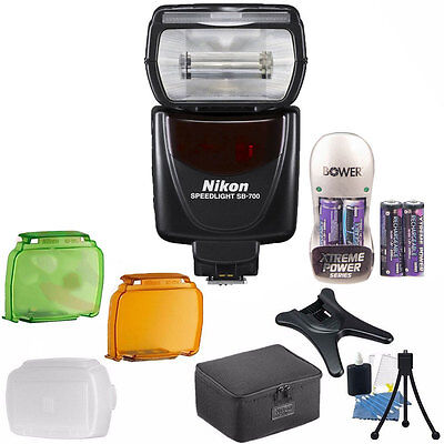 Nikon SB-700 AF Speedlight Shoe Mount Flash for Nikon DSLR Cameras+Accessories