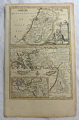 A Map of CANAAN/ A Map of the travels and the voyages of ST PAUL (18th Century)