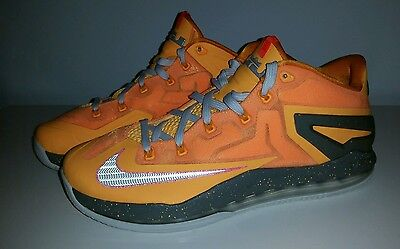New Nike Air Max LeBron XI 11 Low Basketball Shoes Men's size 10.5 Atomic Mango