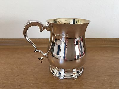 Mappin & Webb Sterling Silver & Gilt Hallmarked 2001 large tankard Excellent