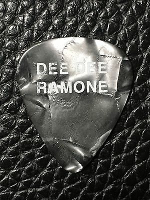 Guitar Pick - The Ramones - Dee Dee Ramone Real Stage Used Custom Tour Pick