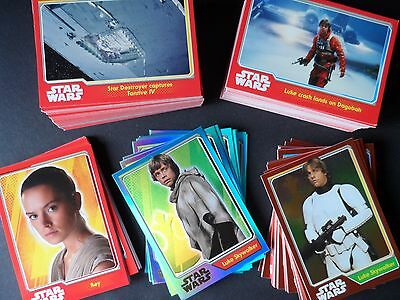 TOPPS STAR WARS JOURNEY TO THE FORCE AWAKENS full master set 207 cards