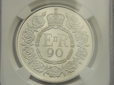 NGC PF 70  2016 Royal Mint Queens 90th Birthday UK £5 Silver Proof Coin Box Coa