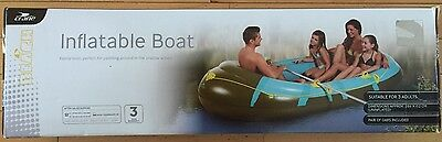 Crane Inflatable 3 Man Boat Complete With Oars