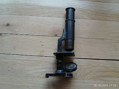 """ANTIQUE Scientific Instruments Lab """" MICROSCOPE """" MADE IN FRANCE # 49 Vintage"""