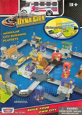 Motormax Dyna City Kindergarten With Child Care Bus New In Box