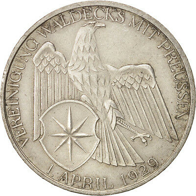 [#415502] GERMANY, WEIMAR REPUBLIC, 3 Reichsmark, 1929, Berlin, Silver,...