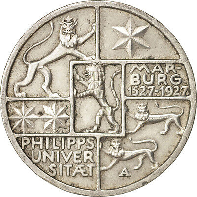 [#415501] GERMANY, WEIMAR REPUBLIC, 3 Reichsmark, 1927, Berlin, Silver,...