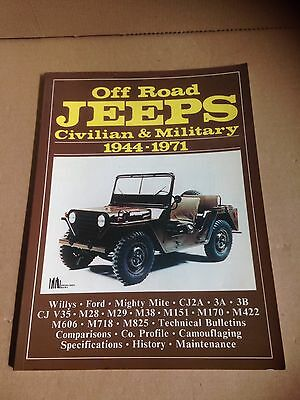 Off Road Jeeps Civilian & Military 1944-1971 Camouflaging Specifications History