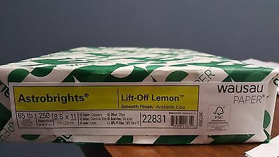 ASTROBRIGHTS 22831 COLOR 65 LB CARD STOCK PAPER * Lift-Off LEMON *8.5 X11 REAM