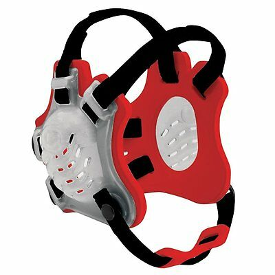 Cliff Keen YF5 Youth Tornado Wrestling Headgear/Earguards-Translucent/Red/Black