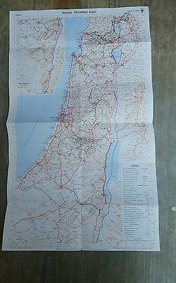 Map of Israel, Israel Touring Map. 1983