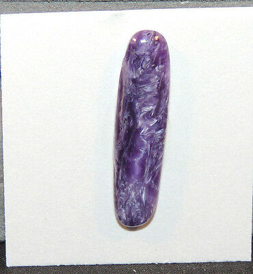 Charoite Free Form Cabochon 32x8mm with 4.5mm dome from Russia (11503)