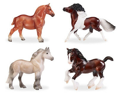 2016 Breyer Stablemates BEST OF BRITISH PONY AND DRAUGHT SET #9176