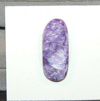 Charoite Free Form Cabochon 27x11mm with 4.5mm dome from Russia (11505)