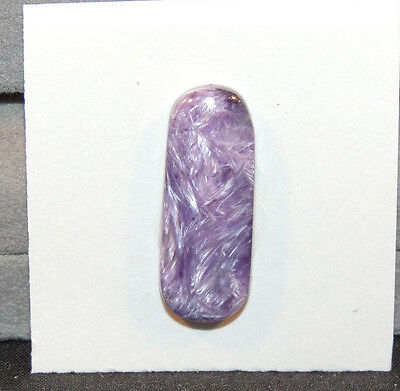 Charoite Free Form Cabochon 27x10.5mm with 5mm dome from Russia (11507)