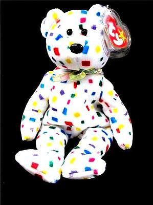 """Ty Beanie Babies Collection Original Ty 2K Confetti Bear 8"""" Retired 2000 New"""