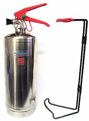 Chrome 2 Kg Dry Powder Abc Fire Extinguisher Home Office Vans Kitchen. Ce Marked