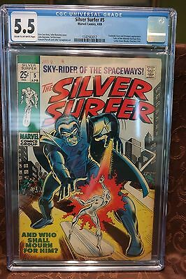 Silver Surfer #5 CGC 5.5 (Fantastic Four and Stranger App)