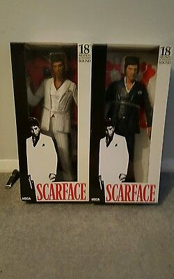 """Neca 2 SCARFACE 18"""" MOTION ACTIVED SOUND BOXED in EXCELLENT condition"""