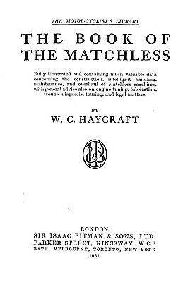 The Book Of The Matchless Pitman The Motorcyclist Library Information Manual