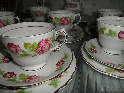 Royal Vale Tea Set Rose Floral Vintage Tea Set 21pcs English Bone China Tea Set