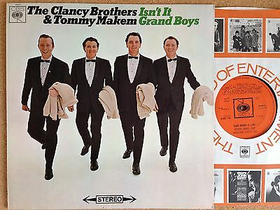 THE CLANCY BROTHERS/TOMMY MAKEM Isn't It Grand Boys CBS SBPG 62674 STEREO