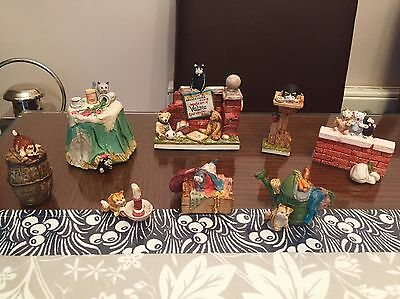 8 Peter Fagan Colour Box Cat Made Hand Painted Scotland 80's & 90's