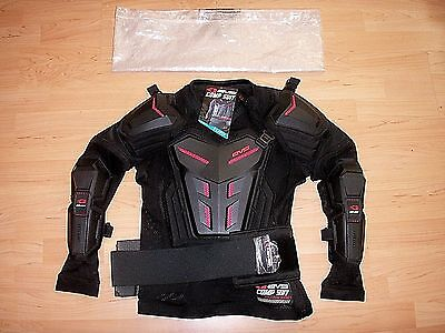 New Evs Sports Comp Suit Body Armour Ballistic Jersey Chest Protector Jacket Xl