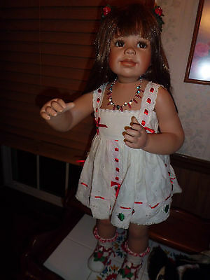 """Monica Levenig 30"""" tall porcelain doll masterpiece gallery 750 made Gorgeous fre"""