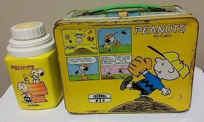 Vintage Peanuts Charlie Brown Snoopy with Thermos Bottle Lunchbox Woodstock