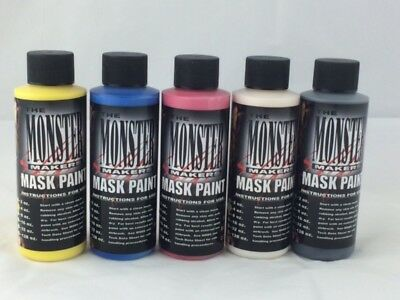 Monster Maker Latex Mask Paints 4OZ - 5 Colour Set