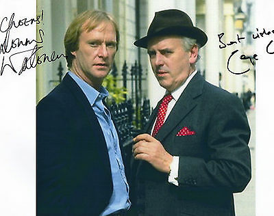 Authentic Signed  George Cole + Dennis Waterman  Minder 12 X 8.. Real Signatures