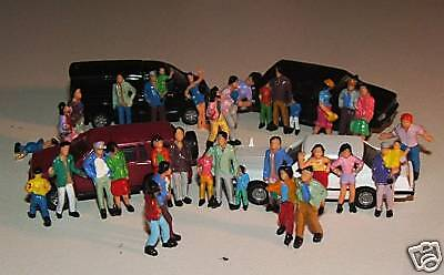 50 HO 1/87 Scale PEOPLE hand painted FIGURES 19mm tall 19 poses Aussie seller