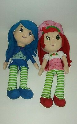 Kelly Toy Strawberry Shortcake and Blueberry Muffin 2015 Plush Characters Dolls