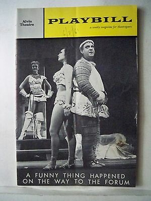 A FUNNY THING HAPPENED / FORUM Playbill STEPHEN SONDHEIM / ZERO MOSTEL NYC 1962