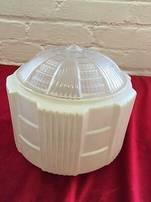 Vintage Art Deco Frosted Glass Ceiling Light Cover Shade