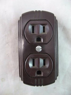 Eagle Double Electrical Outlet 3-Prong Heavy Duty Vintage
