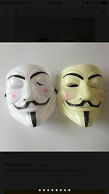 Anonymous Mask Vendetta Hacker Guy Fawkes  USA  Halloween Costume