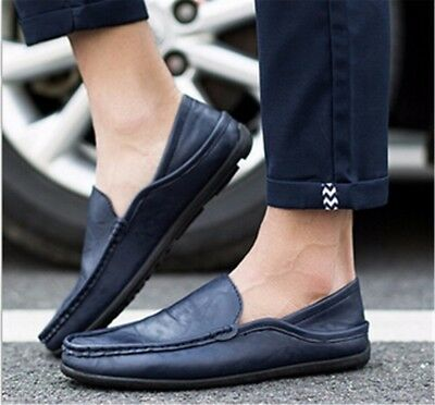 Mens Driving Moccasins Slip On Loafers Casual Sneakers Leather Fashion Shoes
