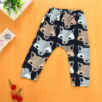 Wolf Newborn 4 6 9 12 18 24 Months Infant Baby Boy Girl Leggings Trousers Pants