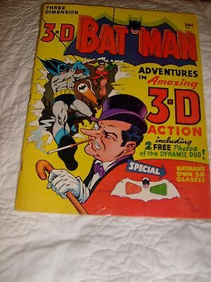 1966 3-D BAT MAN Adventures in 3-D Silver Age RARE with Glasses !!!