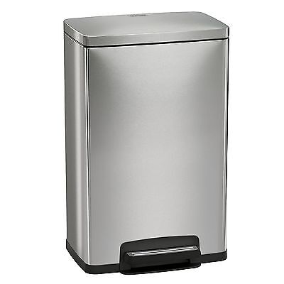 New Tramontina 13 Gal Step Trash Can, Stainless Steel With Freshener System