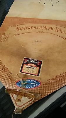 Pianola Roll Mastertouch The Prisoners Sweetheart Waltz D1606