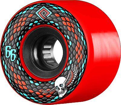 Powell Peralta - Snakes Red 66MM 75A ATF Skateboard Wheels