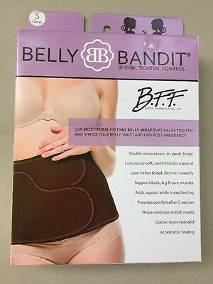 New- Belly Bandit B.F.F- Post Pregnancy Belly Band - Cream/Nude- Small