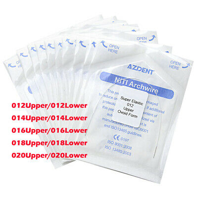 10X Dental Orthodontic Niti Arch Wires Tooth Color Coated Super Elastic AZDENT